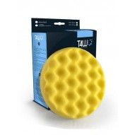 T4W Polishing sponge waffle 150×25mm velcro yellow