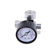 T4W Air pressure regulator with gauge silver
