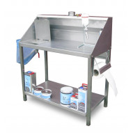 T4W Paining table with fumes extraction INOX