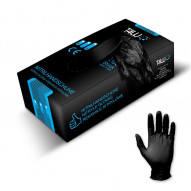 T4W Disposable Nitrile Gloves black / size: XL